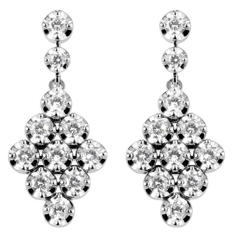 Campbell Fine Diamond 18ct White Gold Drop Earrings 1.45ct - Campbell Jewellers  - 1