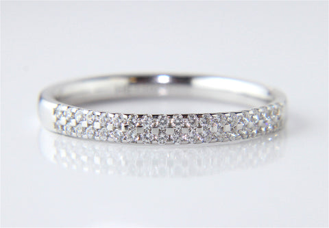 Campbell Platinum Double Row Diamond Wedding & Eternity Ring 0.25ct - Campbell Jewellers - 1