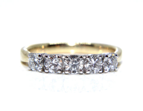 Campbell 18ct Yellow Gold Tulip Setting Eternity Ring 0.75ct