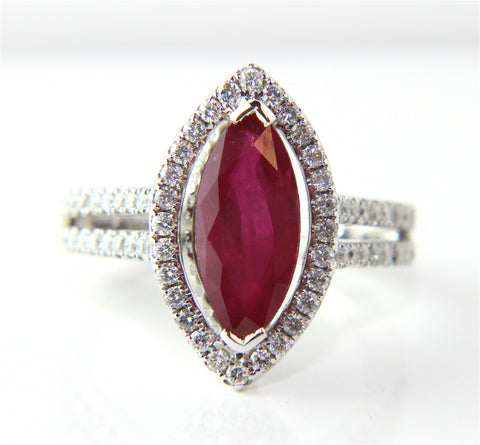 Campbell Marquise Ruby Diamond Engagement Ring 2.78ct - Campbell Jewellers - 5