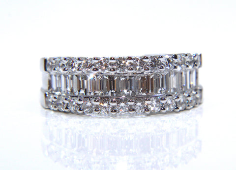 PLATINUM BAGUETTE & ROUND BRILLIANT DIAMOND ETERNITY RING 1.69CT