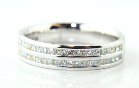 Campbell Platinum Princess Cut Wedding Eternity Ring 0.75ct - Campbell Jewellers  - 1