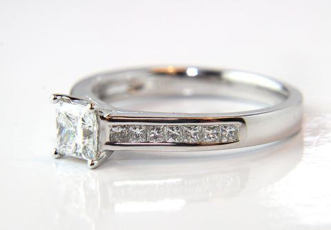 Princess Cut Channel Shoulders Diamond Engagement Ring 0.67ct - Campbell Jewellers  - 1