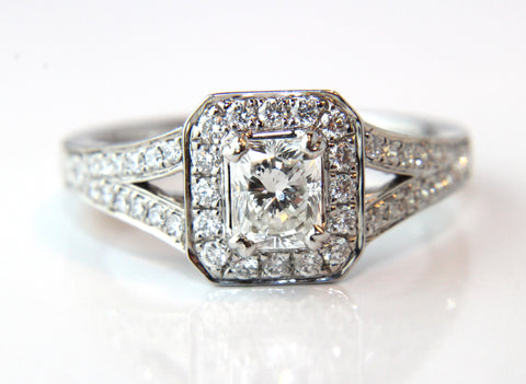 Radiant Cut Split Shoulder Diamond Engagement Ring 1.06ct - Campbell Jewellers  - 1