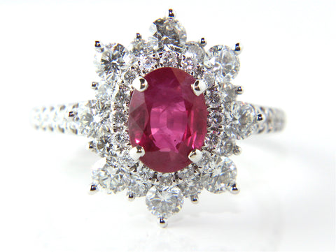 Campbell Oval Ruby Diamond Engagement/Eternity Ring 2.83ct - Campbell Jewellers  - 1