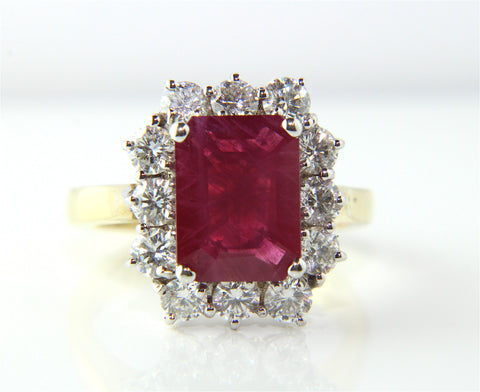 Campbell Emerald Ruby Diamond Engagement/Eternity Ring 2.84ct