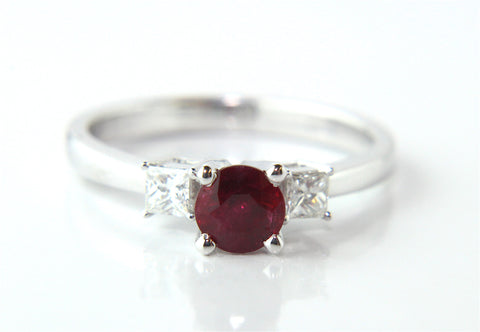 Campbell Ruby & Diamond Engagement Ring 0.97ct - Campbell Jewellers - 2