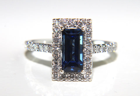 Unique Blue Sapphire Diamond Ring 2.13ct - Campbell Jewellers  - 1