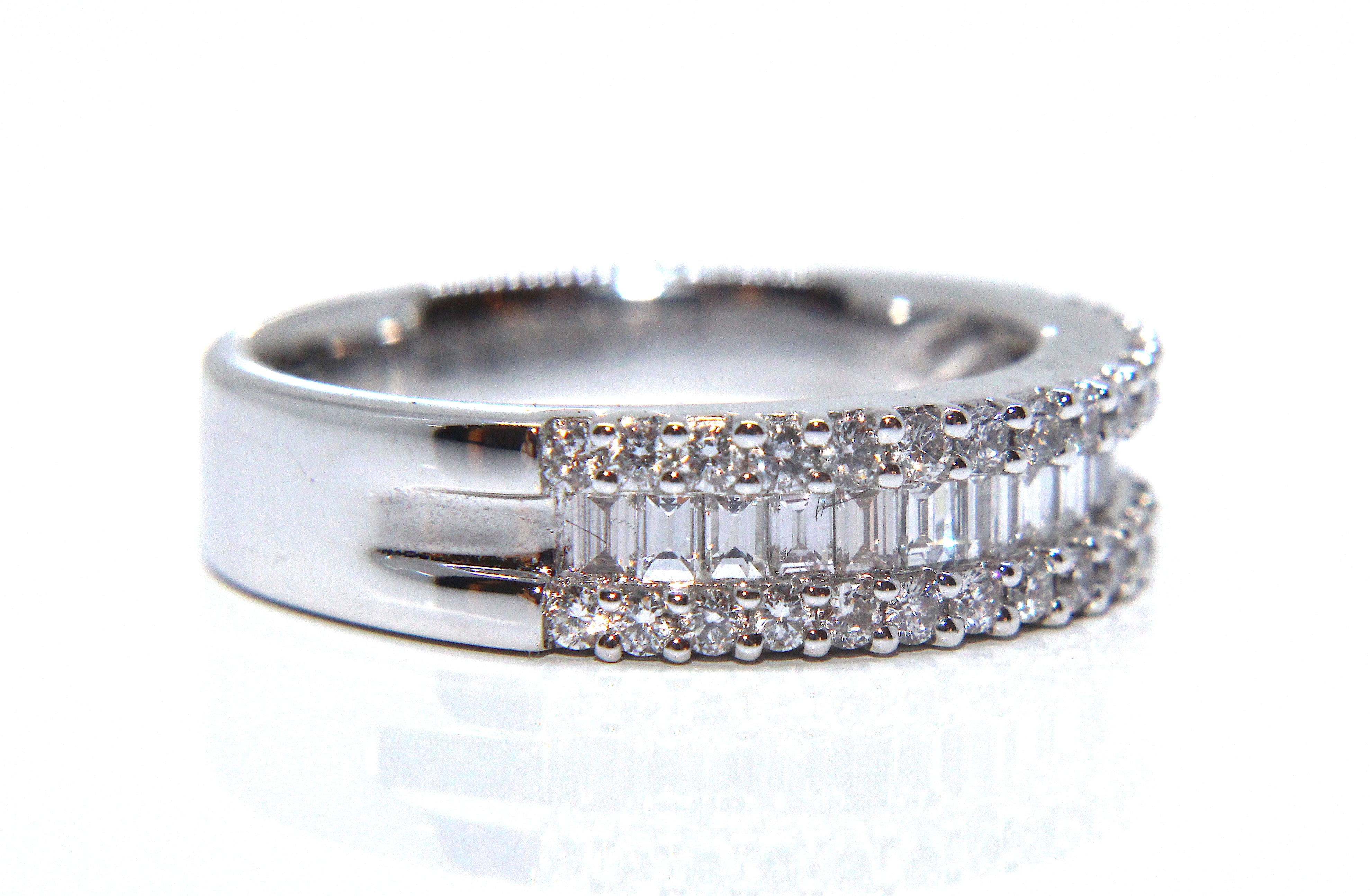 ring anniversary eternity diamond tiffany bands baguette platinum cab wedding co band