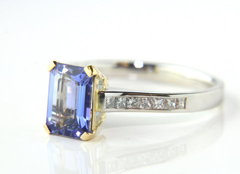 Campbell Tanzanite & Diamond Engagement/Eternity Ring 1.21ct