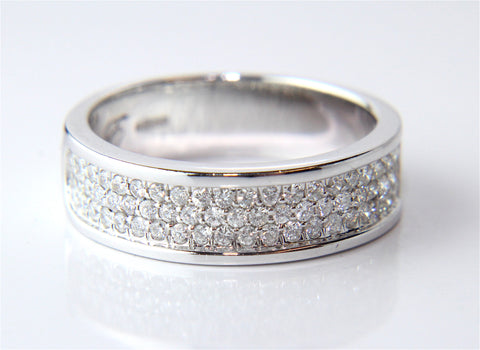 Campbell Wide Diamond Eternity Ring