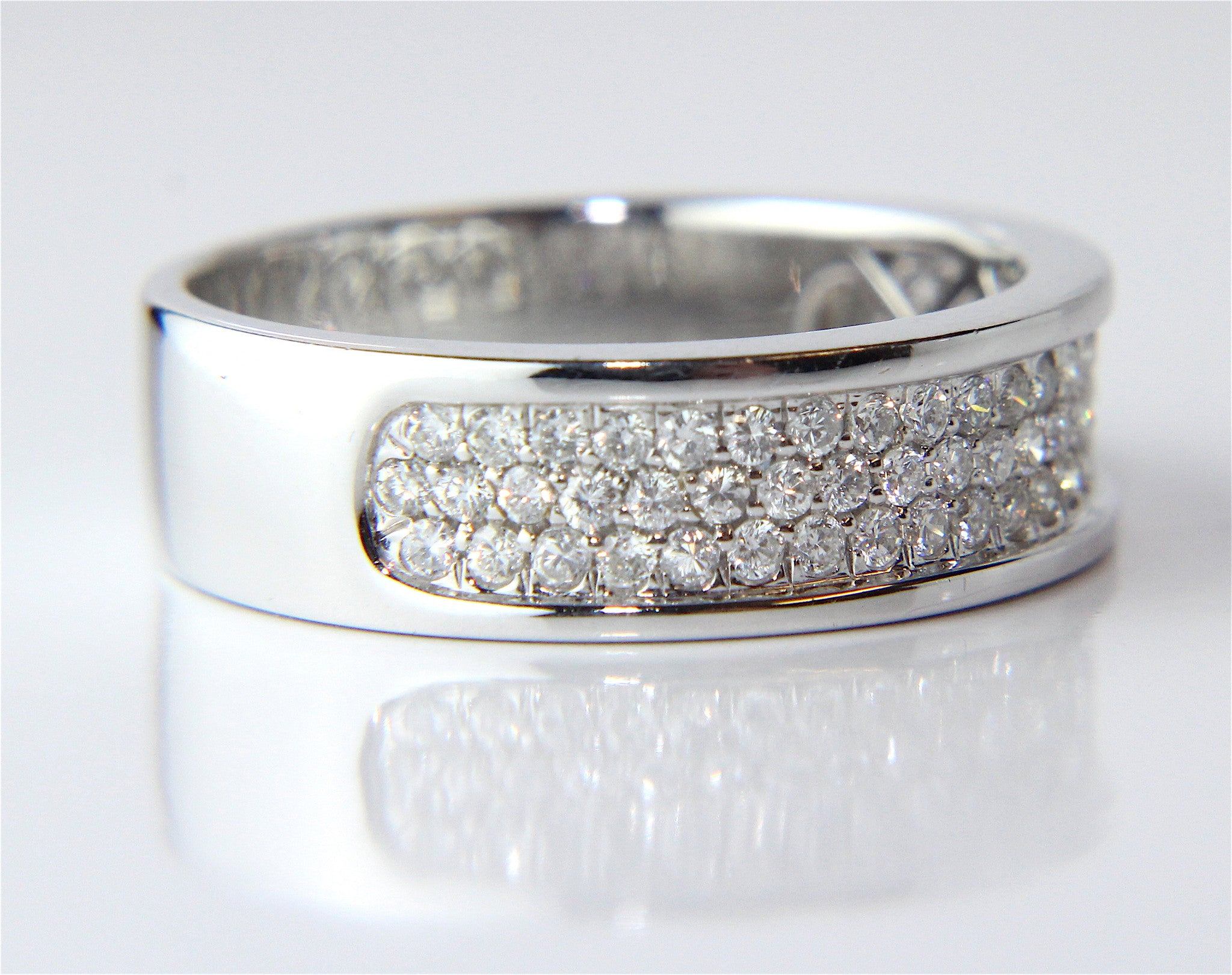 asscher of cut from a bands platinum pin unique eternity ring rings band diamond vintage wide collection