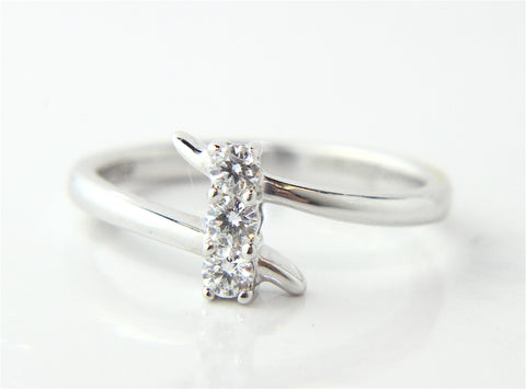 Campbell Trilogy 18ct White Gold Dainty Diamond Ring 0.12ct - Campbell Jewellers - 1