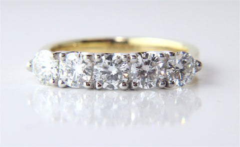 Campbell 5 Diamond Eternity Ring 1.19ct - Campbell Jewellers  - 1