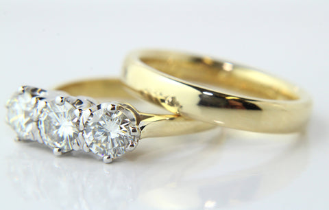 Campbell 18ct Yellow Gold Engagement Ring & Wedding Ring Set