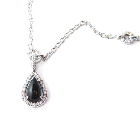 Campbell Fine Onyx & Diamond Necklace 1.37ct - Campbell Jewellers  - 1