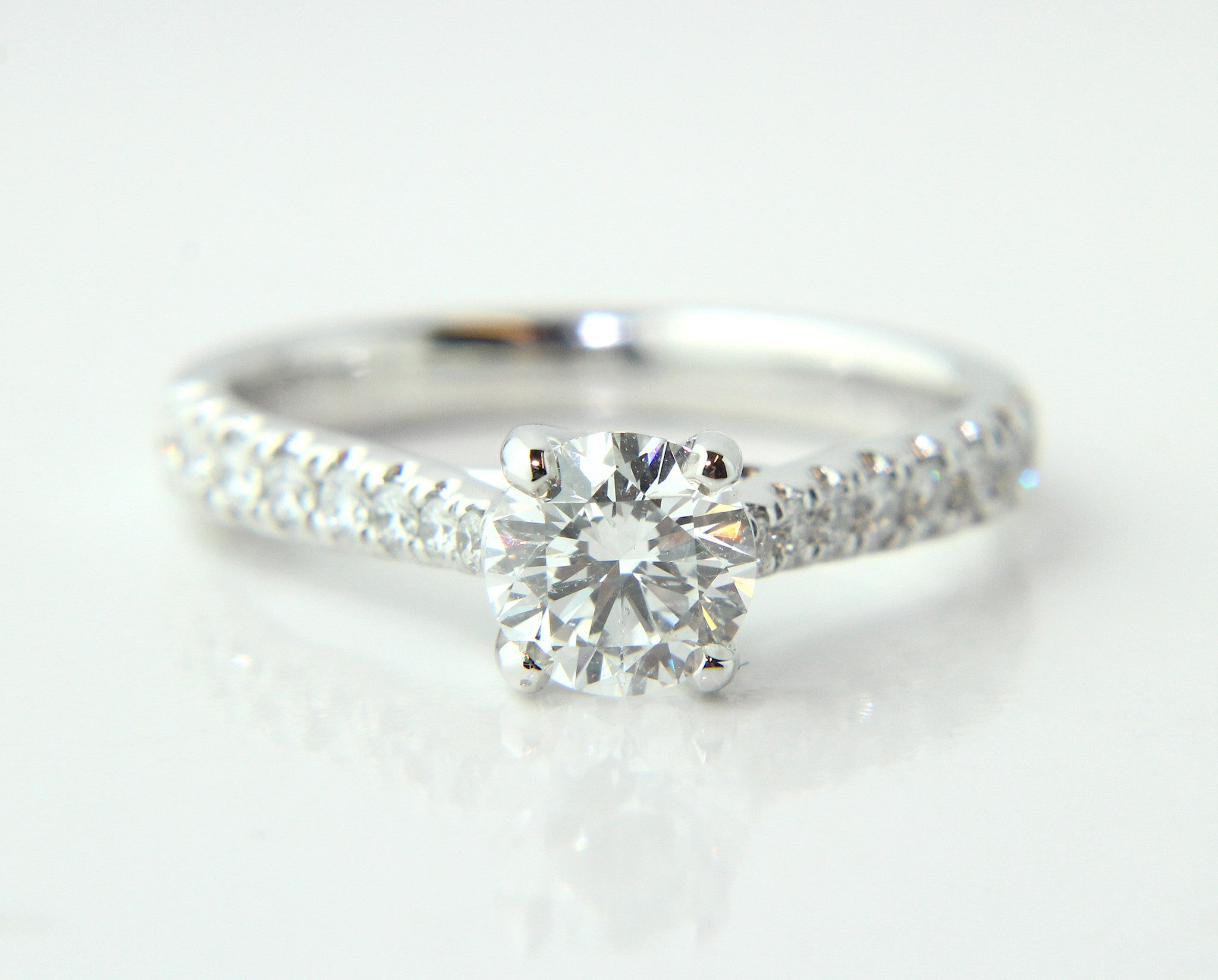 gold platinum h white ring solitaire with rings product cut princess engagement diamond