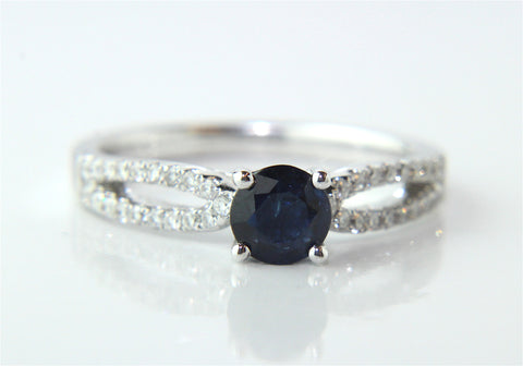 Campbell Sapphire & Diamond Engagement/Eternity Ring 0.80ct