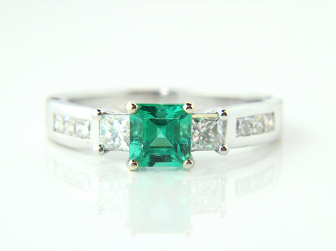 Campbell Emerald & Diamond Ring 1.36ct