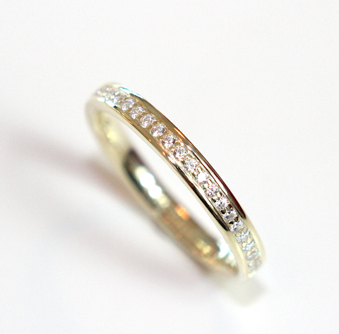 Campbell Grain Set Wedding & Eternity Ring 0.17ct - Campbell Jewellers  - 1