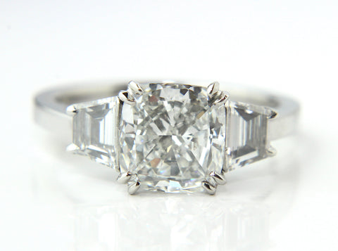 GIA Certified Cushion Cut Diamond Engagement Ring 2.08ct - Campbell Jewellers