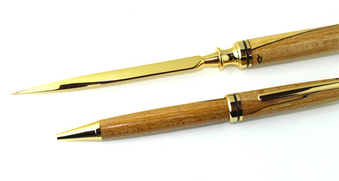 Irish Spalted Beech Letter Opener & Pen Set Hand Made - Campbell Jewellers  - 1