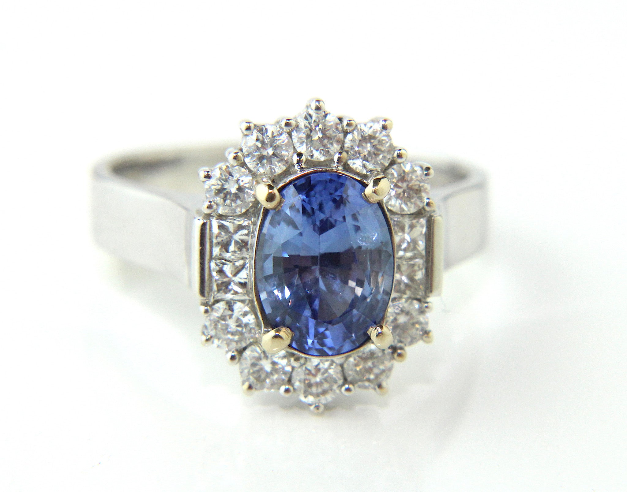 jewelry a sapphire in gold pin with blue white light petite ring lucy