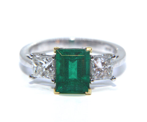 Platinum Emerald & Diamond Ring 2.81ct - Campbell Jewellers