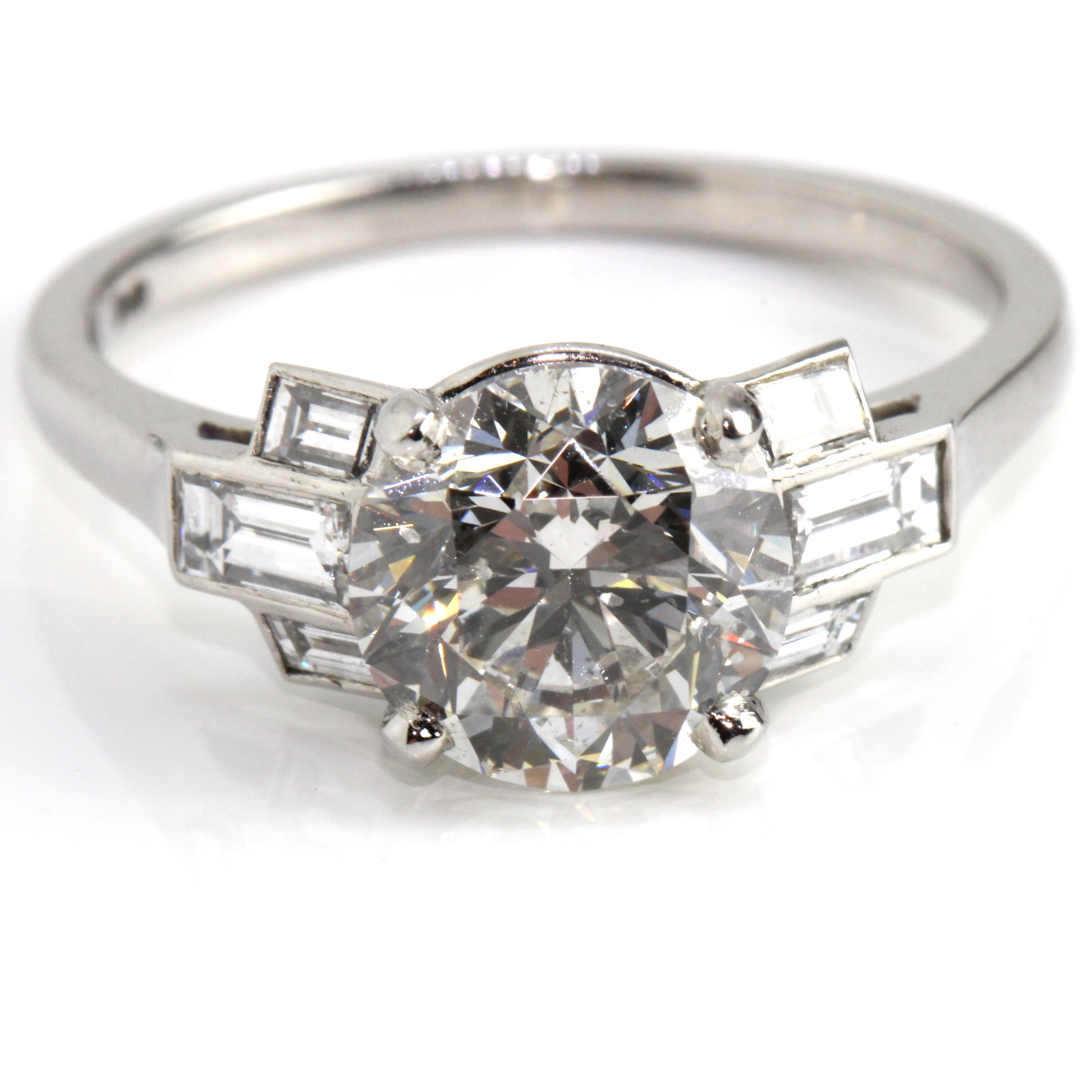 03ff614ad Campbell Platinum Art Deco Inspired Diamond Engagement Ring 2.42ct Campbell  Jewellers ...