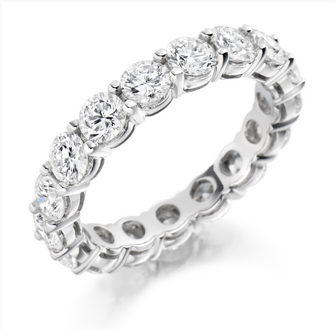 Campbell Jewellers Platinum Diamond Full Wedding/Eternity Ring 3.00ct