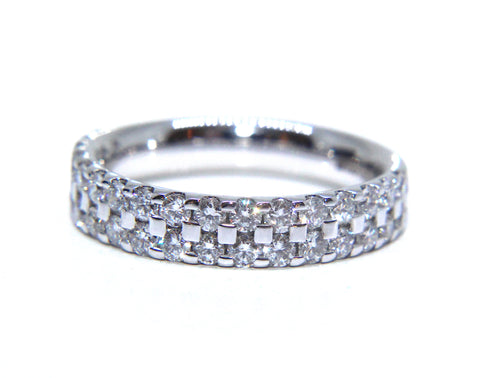 Platinum Double Row Diamond Eternity Ring 0.75ct - Campbell Jewellers