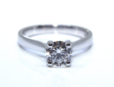 Campbell Platinum Round Diamond Solitaire Engagement Ring 1.02ct