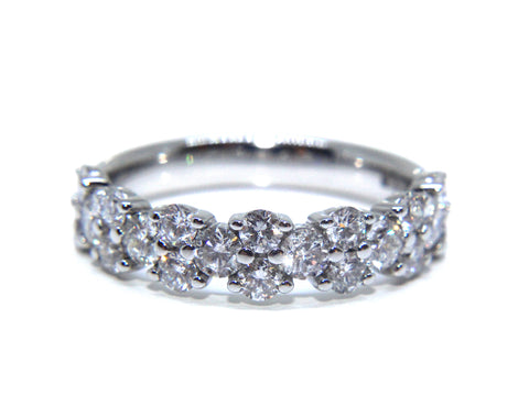 Campbell Platinum Round Brilliant Diamond Eternity Ring 1.20ct