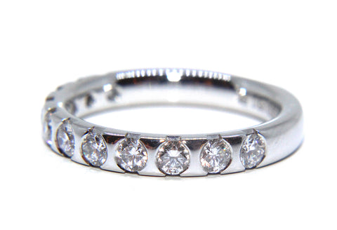 Platinum Round Brilliant Eleven Diamond Eternity/Wedding Ring 0.88ct
