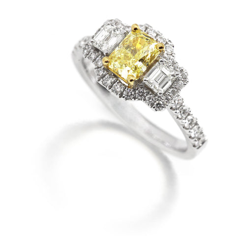 Ronan Campbell Yellow Diamond Engagement Ring