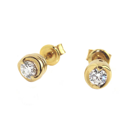 Ronan Campbell Diamond Stud Earrings