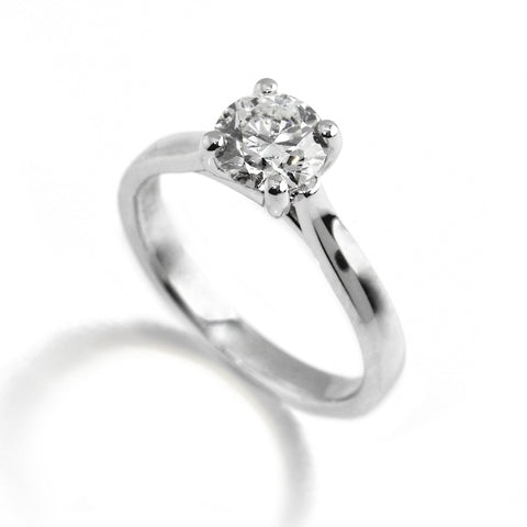 Platinum Solitaire Diamond Ring Ronan Campbell