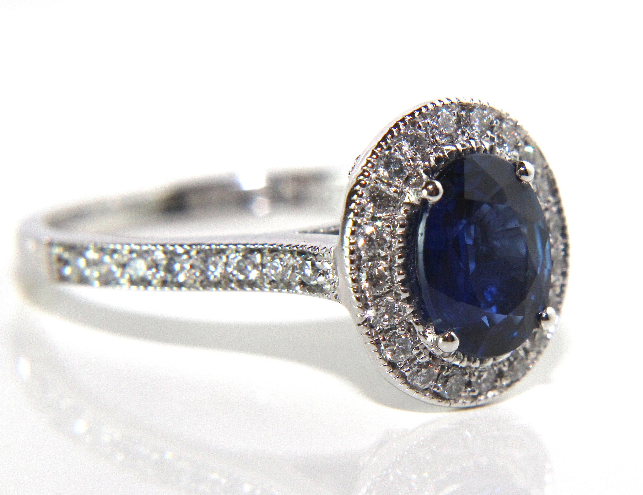 campbell oval blue sapphire diamond vintage engagement ring 1 61