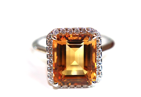 Campbell Citrine & Diamond Cocktail Ring 5.78ct - Campbell Jewellers  - 1