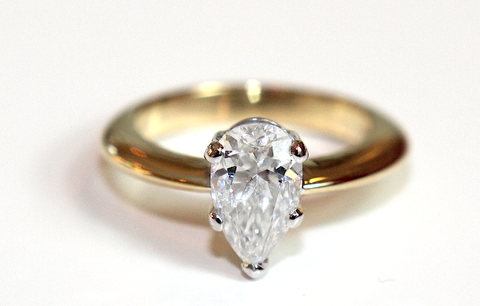 Pear Solitaire Engagement Ring - Campbell Jewellers  - 1