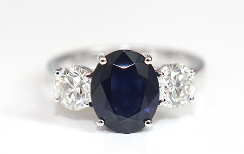 Campbell Blue Sapphire & Diamond Engagement Ring 4.58ct - Campbell Jewellers  - 1