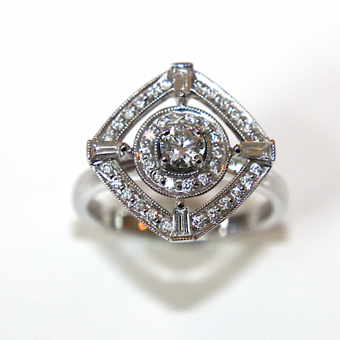 Vintage Design Diamond Engagement Ring 0.70ct - Campbell Jewellers  - 1