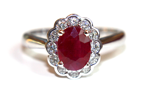 Ruby Cluster Diamond Ring 2.24ct - Campbell Jewellers  - 1