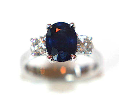 Campbell Blue Sapphire & Diamond Engagement Ring 2.71ct - Campbell Jewellers  - 1