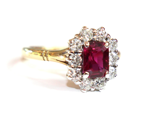 Campbell Ruby & Diamond Cluster Ring 1.60ct - Campbell Jewellers  - 1