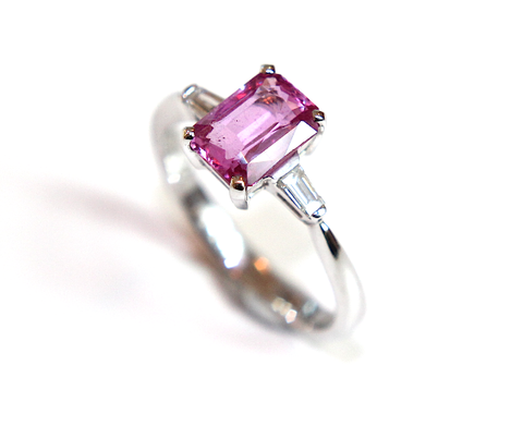 Pink Sapphire & Diamond Ring 1.79ct - Campbell Jewellers  - 1