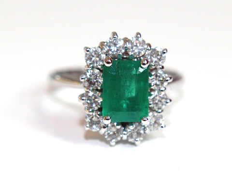 Campbell Emerald & Diamond Cluster Ring 2.83ct - Campbell Jewellers  - 1