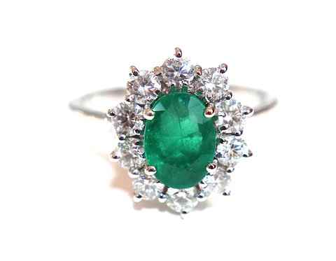Campbell Classic Emerald & Diamond Cluster Ring 2.74ct