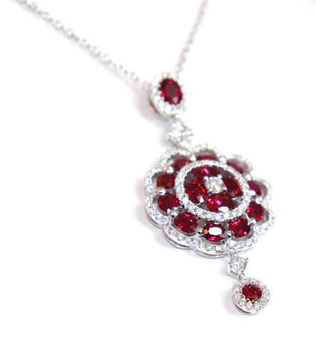 Campbell Fine Ruby & Diamond Pendant 4.84ct - Campbell Jewellers  - 1