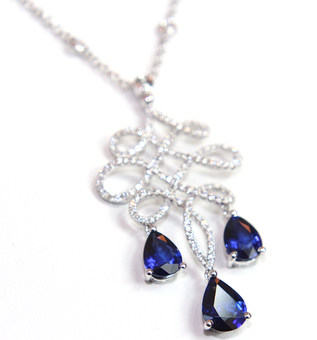 Campbell Fine Sapphire & Diamond Necklace 4.59ct - Campbell Jewellers  - 1